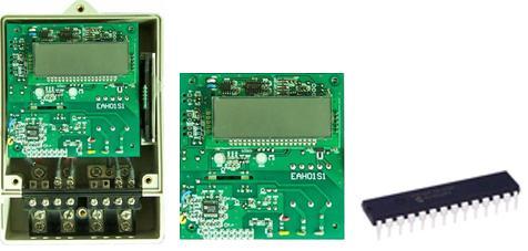 电能表模块采用专用集成电路进行电能计量及智能控制
